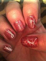 red and silver design by pierrettepaola