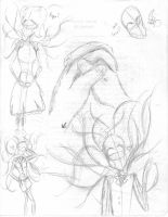 Doodle Dump #7: Slender People and Hand Practice! by FreedRose