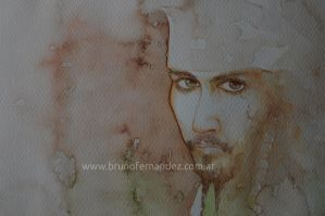 Jack Sparrow Watercolor by fbruno