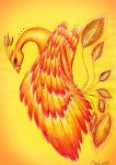 This Phoenix is on Fire by KhaliaArt