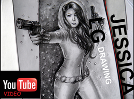 JESSICA LG  -  TIMELAPSE DRAWING VIDEO by GenKey