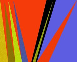 Composition in green, blue, and orange by Peterhoff3