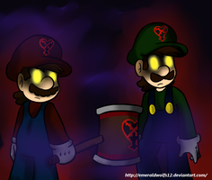 Heartless Mario and Luigi by MariobrosYaoiFan12