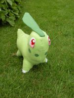 A Wild Chikorita Appears by channellehazel