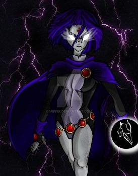 Raven of Lightning by Miffix