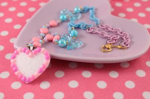Forever Love Heart Necklace by PeppermintPuff