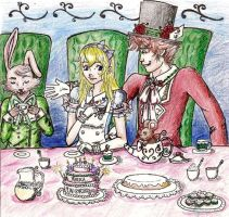 ALice's Tea Party by Tetra-Zelda