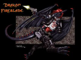 Wasteland Warrior in Action by Drakon-Fireblade