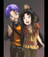 Trunks and hana 2 by Nishi06