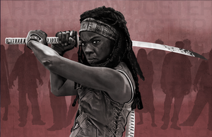 Michonne Poster of the walking dead. by Richtoon