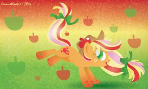 Rainbow Power Applejack by CaramelCookie