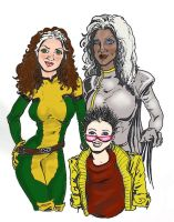 Rogue Storm and Jubilee by akatheToad