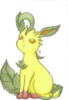 Leafeon by Foureyedalien