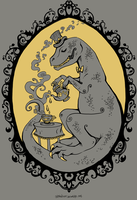 Tea Rex: t-shirt design by IceandSnow