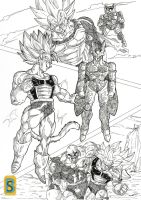 Saiyajin's VS Mirai Cell by bloodsplach
