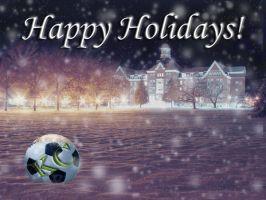 Soccer Xmas Card by bottomofastairwell