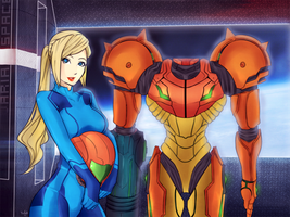 Samus Aran and Varia by AxeL-FaR