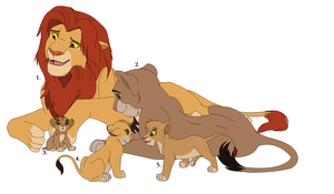 Free lion family Adoptables: Read Rules! by Tams-secret-twin
