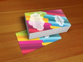 Fancy rainbow business card by Lemongraphic