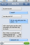 Frozen Texting With Elsa and Anna by mynameisshutup