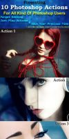 10 Photoshop Actions by hmtopu