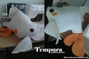 Tempura the Goldfish Plush by Lilgreenhorn