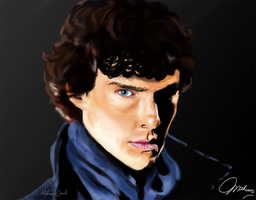 Benedict Cumberbatch aka Sherlock-Digital Portrait by Mahoor18