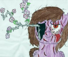 SCARY MLP: Cherry Blossoms by Ravenslpash26