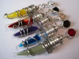 Fang vial pendants by WaterGleam