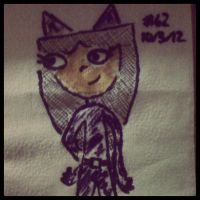 Napkin Art #62 - Catabella - Phineas n Ferb Batman by PeterParkerPA