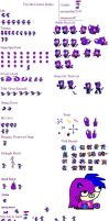 tess the lioness sprite sheet by sapphiredragon49
