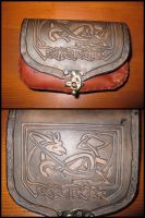 Viking carved belt bag by akinra-workshop