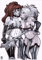 Six and Veronika Red by RamArtwork