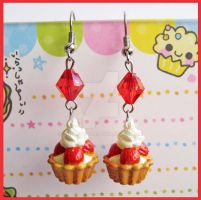 Strawberry Tartelette Earrings by cherryboop