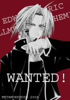 WANTED-Edward Elric by kuso-taisa