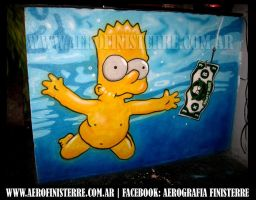 Bart Nevermind (mural) by AerografiaFinisterre