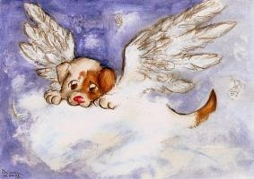 Puppy with wings by Dzinka