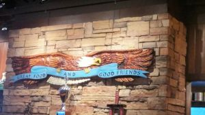 Eagle Wall Decoration on Famous Dave's Wall by BigMac1212