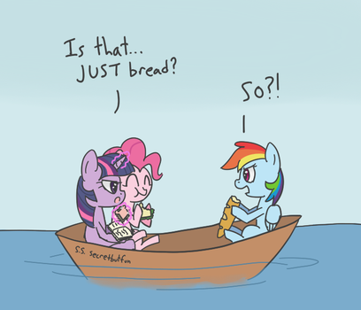 Bread Boat by spicyhamsandwich