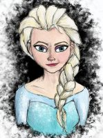 Queen Elsa by AbsyntheRequiem