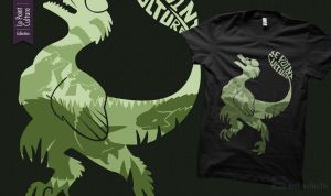 Point Culture Official Tee-shirt - Dinosaures by UmbreoNoctie