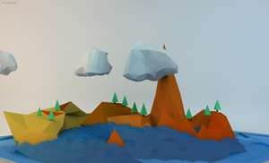 Low poly Scene #3 by Gelbaxa