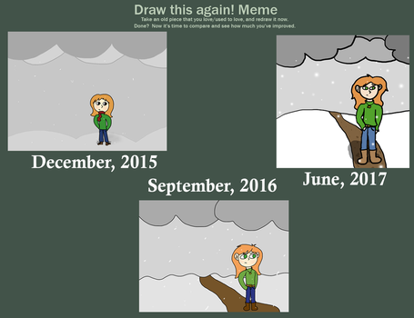 Day 11 - Re-draw an Old Drawing by SStwins