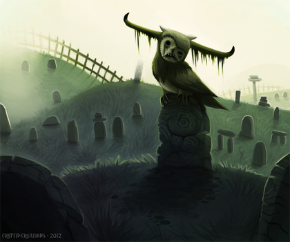 Daily 7 - Graveyard Guardian by Cryptid-Creations