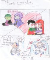 TEEN TITANS COUPLES by tylee-fan