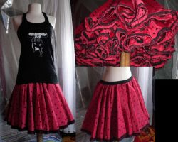 Full Skirt and Reworked Tee by valium-overdose