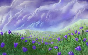 Purple Flower Field by Dreamin-Lea