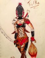 Blood-red Huntress by CreepinOn