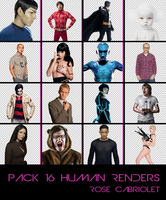 Pack 16 Human Renders by RoseCabriolet