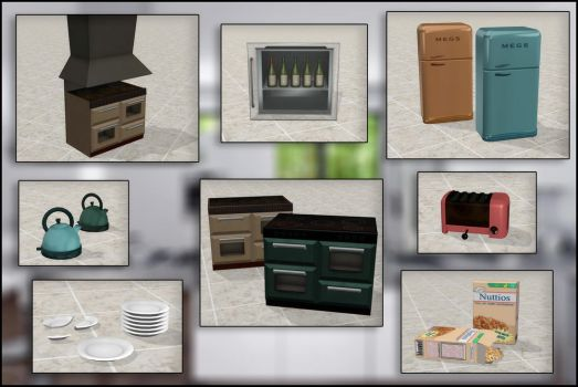 Kitchen appliances and props by deexie